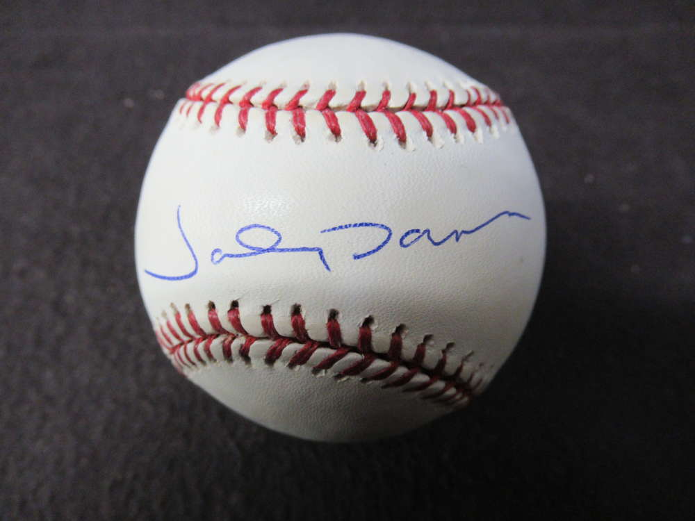 5845dd40401 Details about JOHNNY DAMON SIGNED AUTO AUTOGRAPH OMLB BASEBALL STEINER COA  BL185