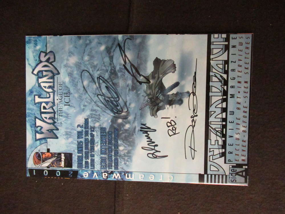 WARLANDS THE AGE OF ICE CREATORS SIGNED AUTOGRAPH COMIC BOOK ROB ARMSTRONG PH847