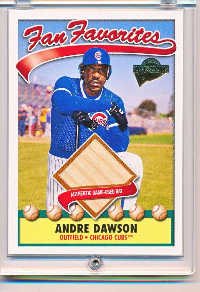 2003 Topps Fan Favorites Andre Dawson Ffr Ada Game Used